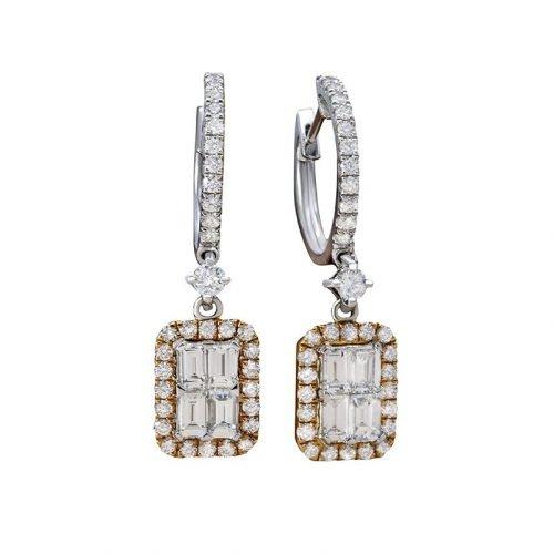 7 Orient Atelier Quattro Diamond Earrings 0