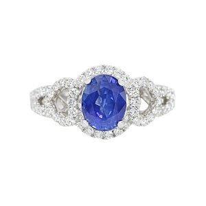 21 Blue Sapphire Regala Ring 0