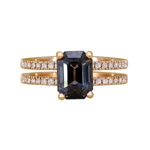 21 Orient Atelier  Grey Spinel Noir Ring 0