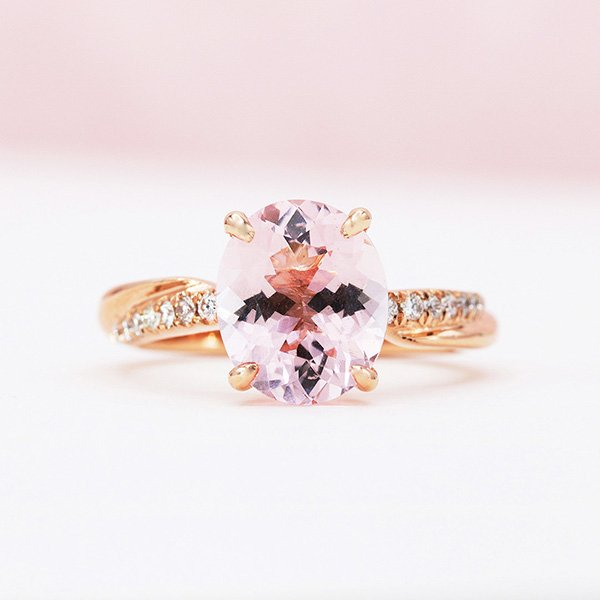 Orient Atelier Morganite Twisted Vine Ring