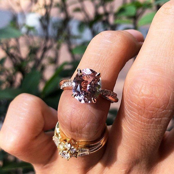 Orient Atelier Morganite Twisted Vine Ring