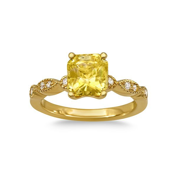 Orient Atelier Yellow Sapphire Vintage Eyelet Ring