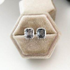 28 Celine Grey Spinel Earrings 0