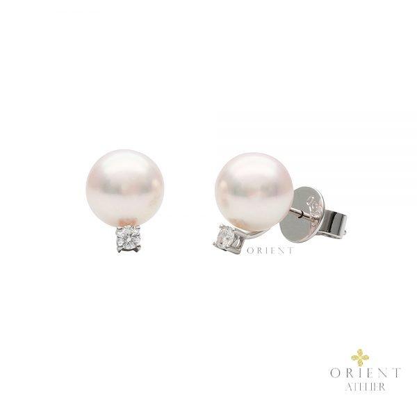 Belle Akoya Pearl Earrings by Orient Atelier