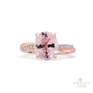 1 Orient Atelier Morganite Twisted Band Ring 1