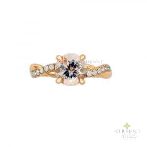 12 Orient Atelier Morganite Classic Wave Ring