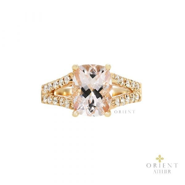 14 Orient Atelier Morganite Y Shank Ring 01