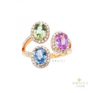16 Orient Atelier Tri-Sapphire Cluster Ring 0