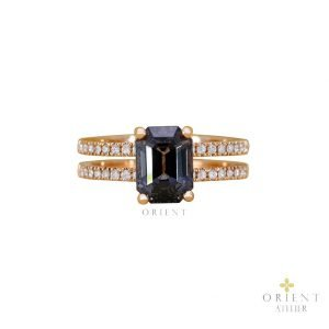 21 Grey Spinel Noir Ring 0