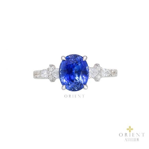 24 Luxe Sofia Blue Sapphire Ring 0