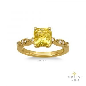 3 Orient Atelier Yellow Sapphire Vintage Eyelet Ring 1