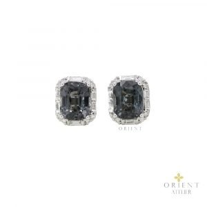 WE3 Celine Grey Spinel Earrings
