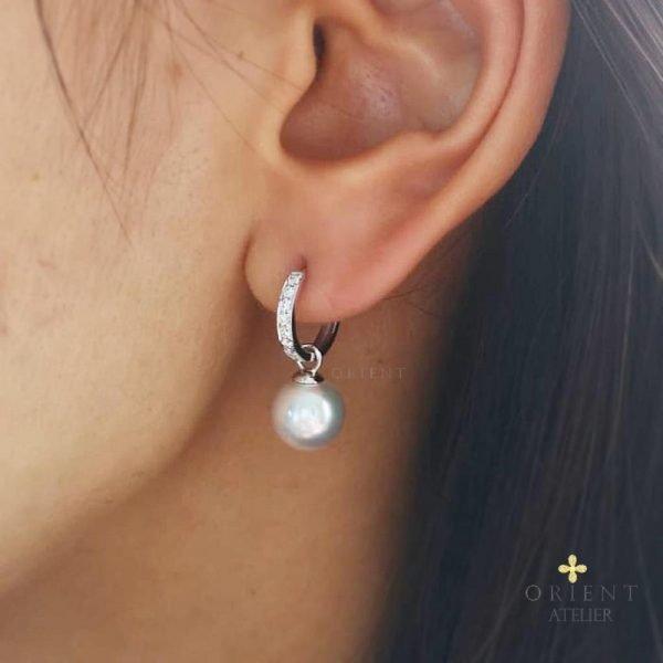 Rebecca Akoya Pearl Earrings by Orient Atelier