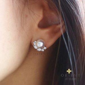Carina Akoya Pearl Earrings by Orient Atelier