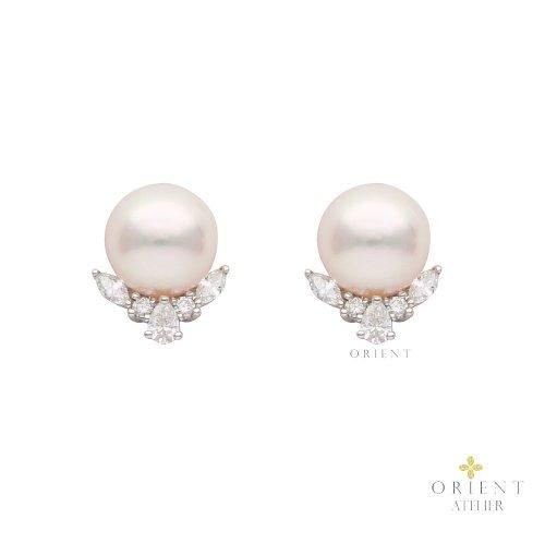 Zara Akoya Pearl Earrings by Orient Atelier