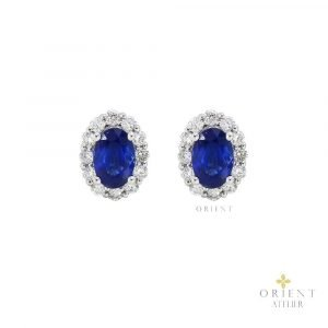 YR4204 VIVID BLUE SAPPHIRE EARRINGS