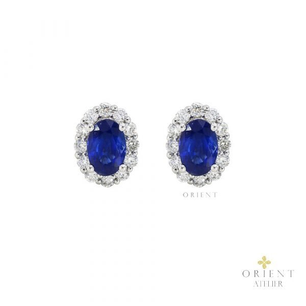 YR4204 VIVID BLUE SAPPHIRE EARRINGS