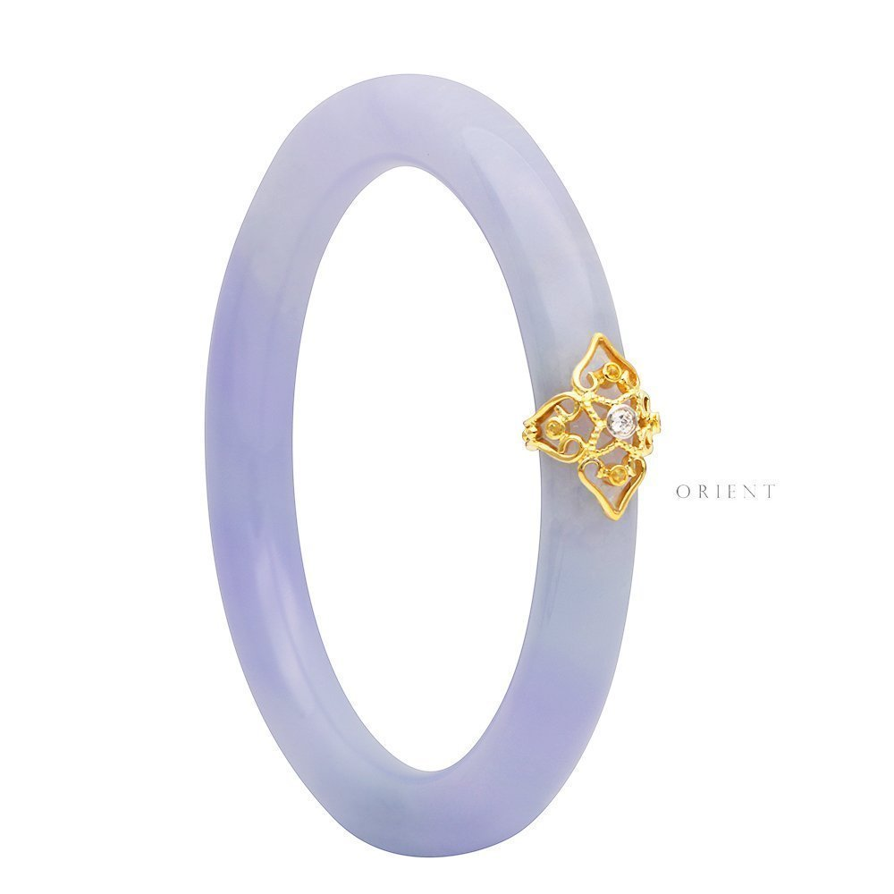 Cassia Lavender Jade Bangle 1