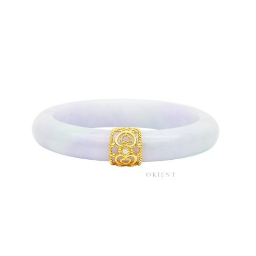 RZ3 (2) Clover Lattice Jade Bangle