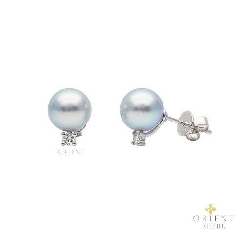 PDNEF17 WC33 Orient Atelier Grey Akoya Pearl Earrings