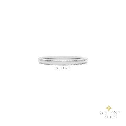 WR72 DREF10 Orient Atelier Simple Milgrain Flanked Ring